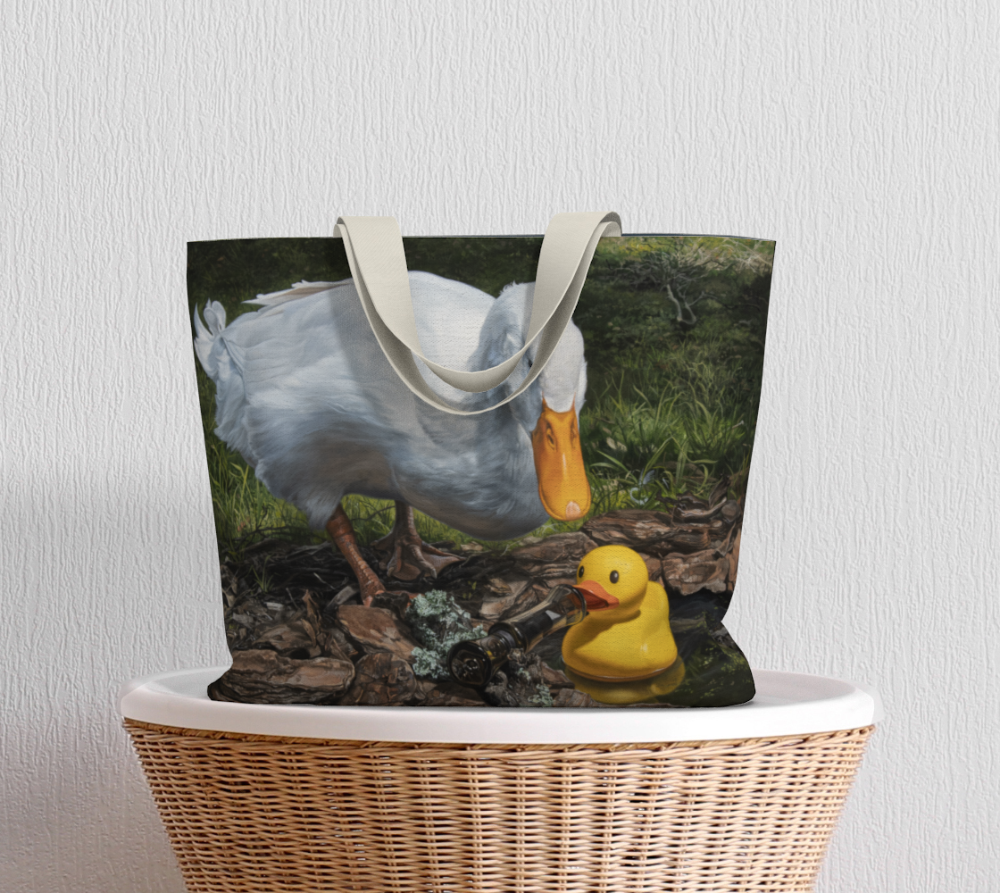 If It Looks Like a Duck Large Tote Bag preview #5