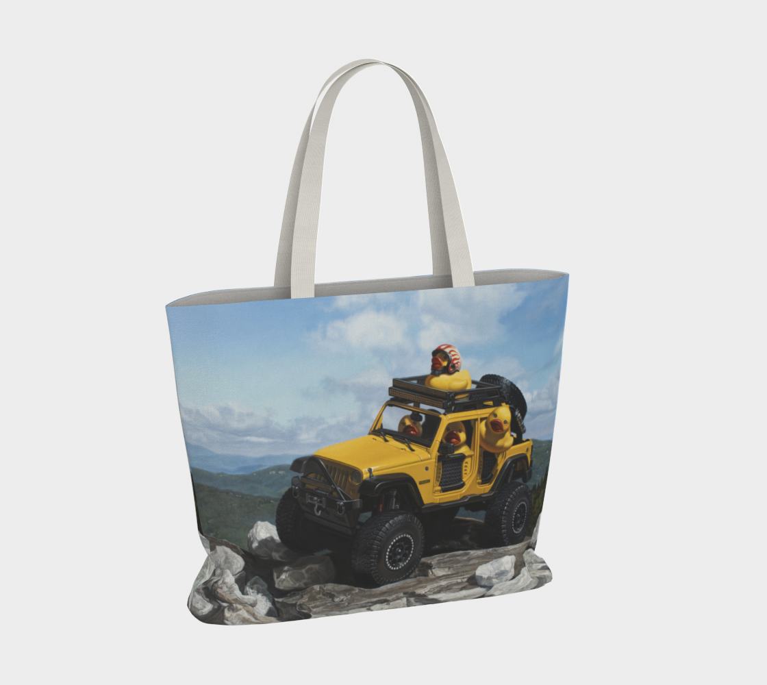 Keep On Ducking Large Tote Bag preview #4