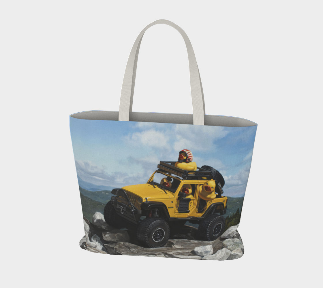 Keep On Ducking Large Tote Bag preview #3
