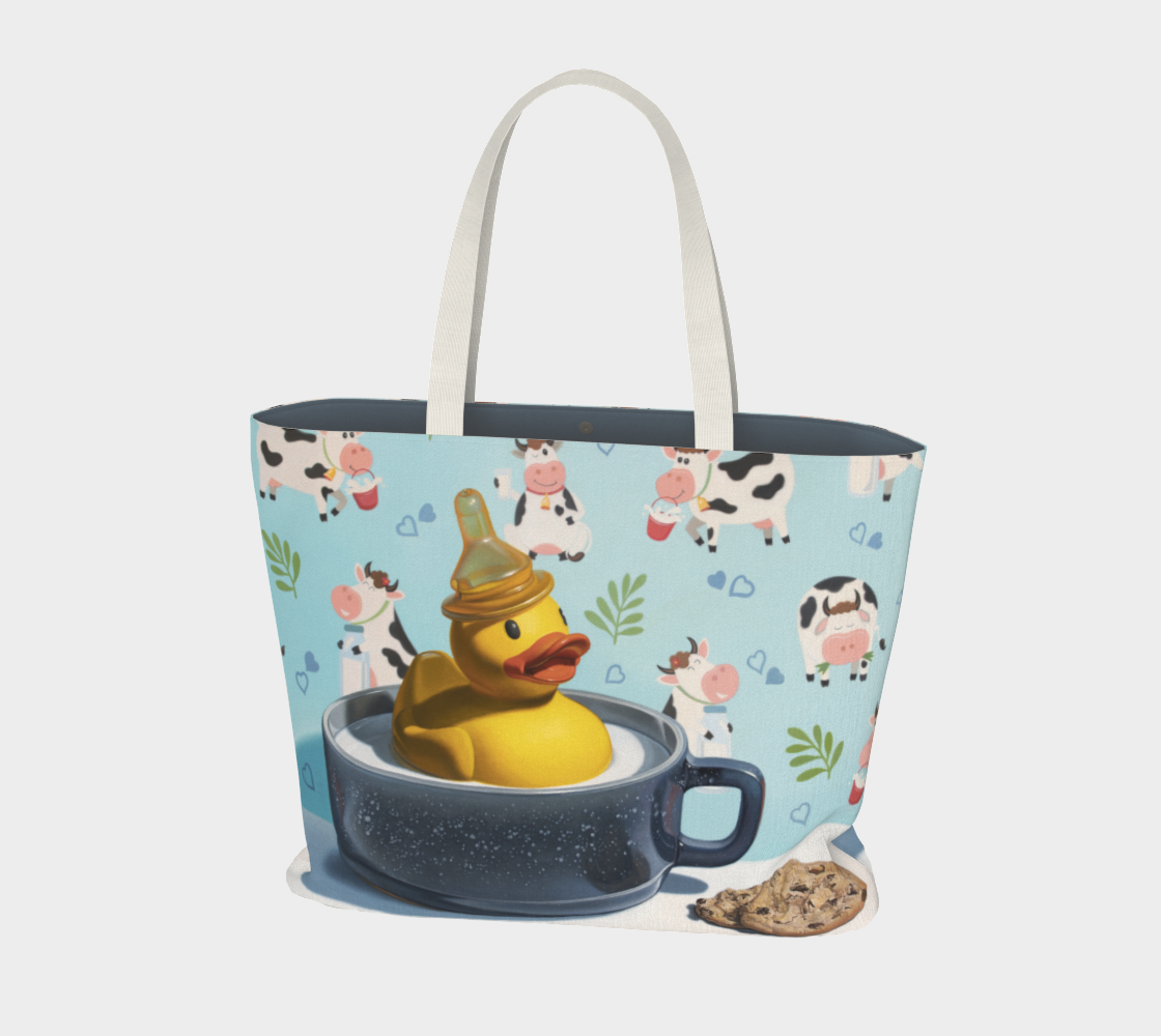 Milk Duck Large Tote Bag preview #1