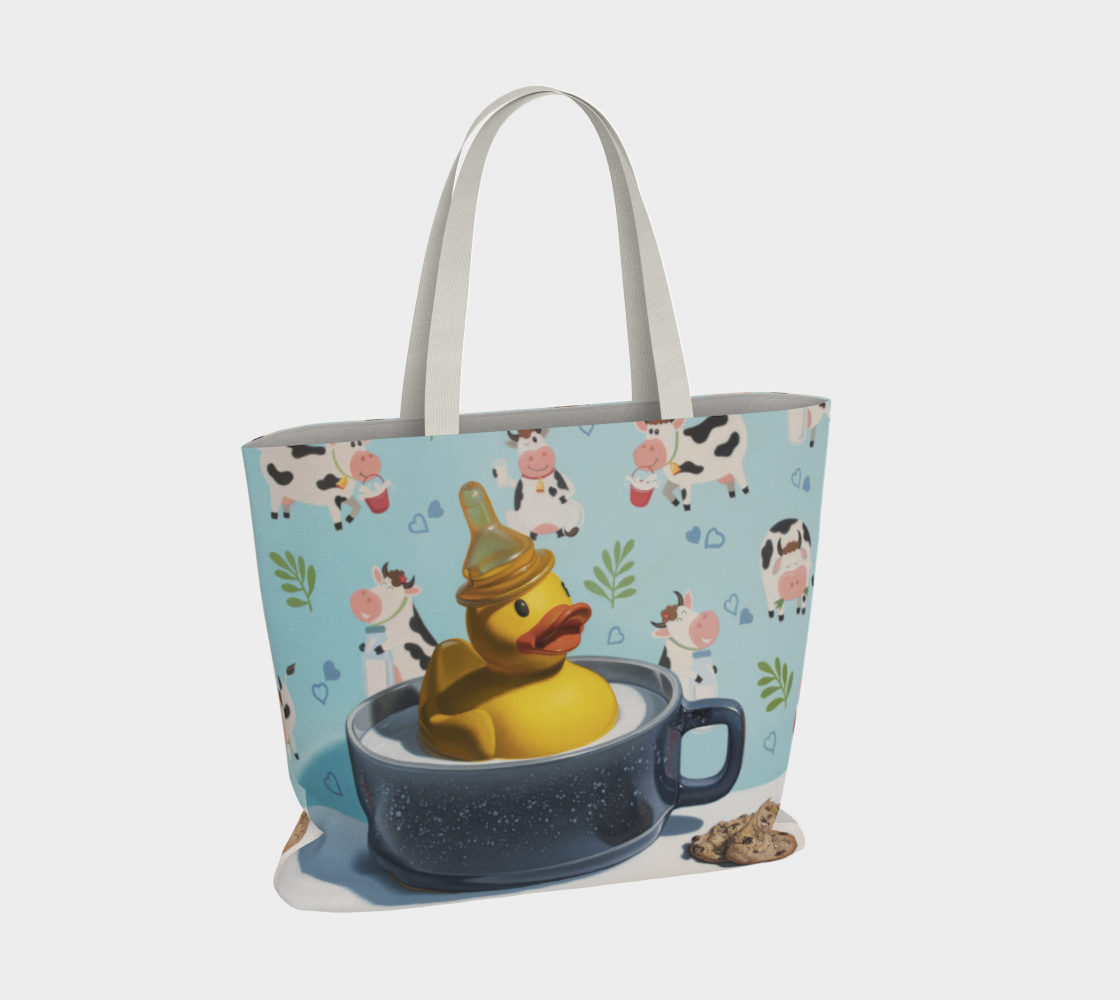 Milk Duck Large Tote Bag preview #4