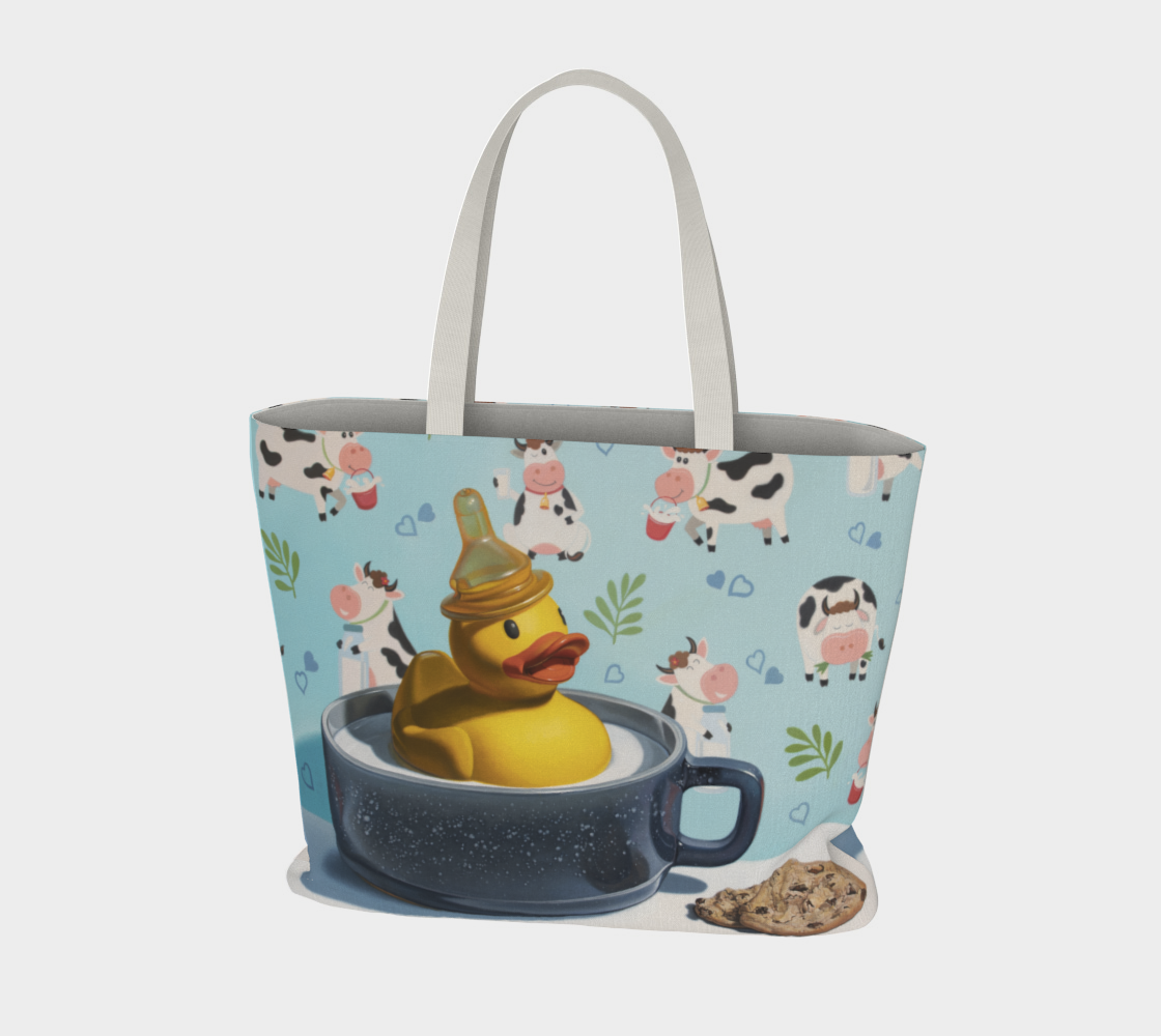 Milk Duck Large Tote Bag preview #3
