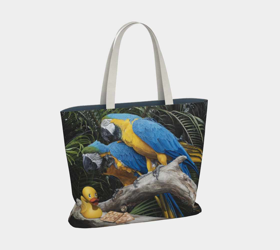 Polly Wanna Quacker Large Tote Bag preview #2