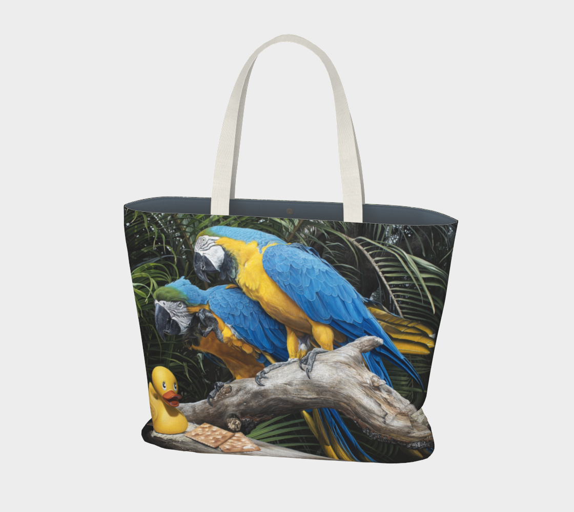 Polly Wanna Quacker Large Tote Bag preview #1