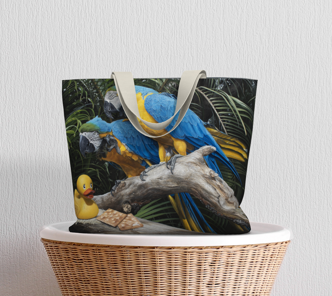 Polly Wanna Quacker Large Tote Bag preview #5