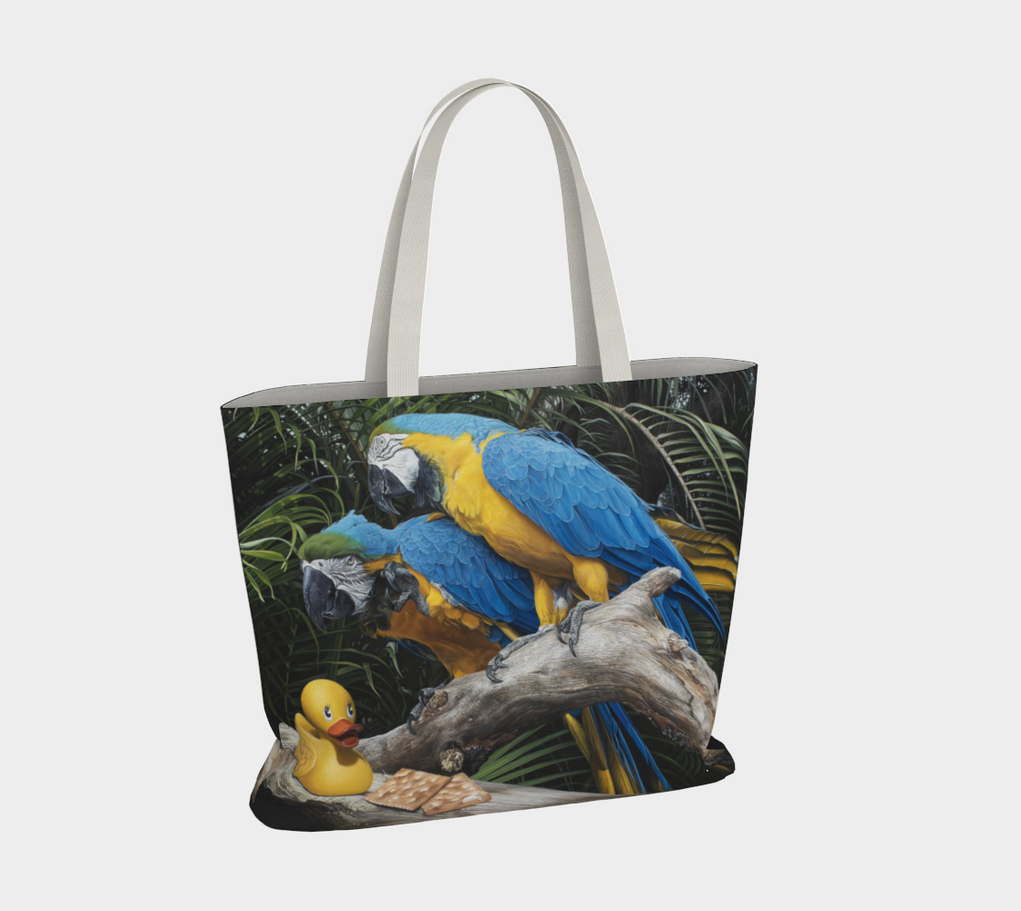 Polly Wanna Quacker Large Tote Bag preview #4