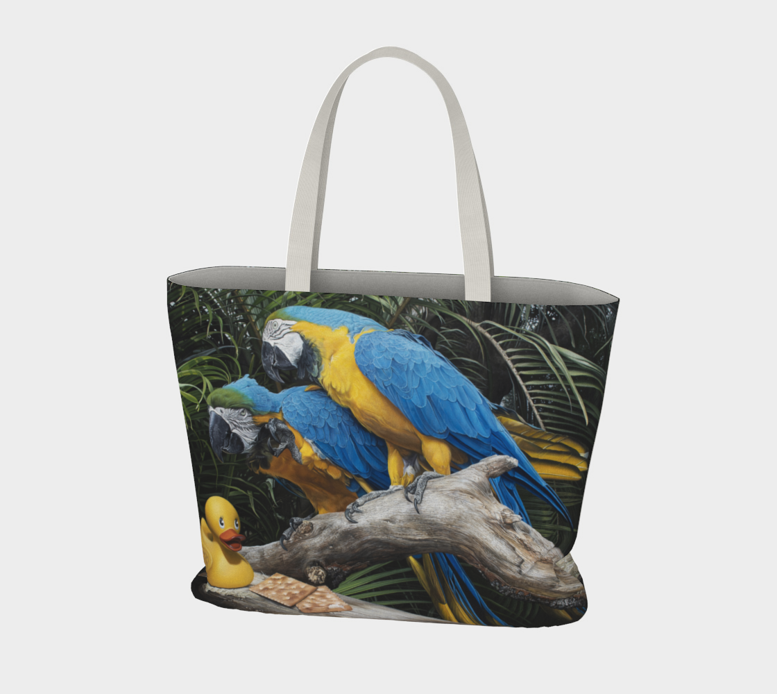 Polly Wanna Quacker Large Tote Bag preview #3