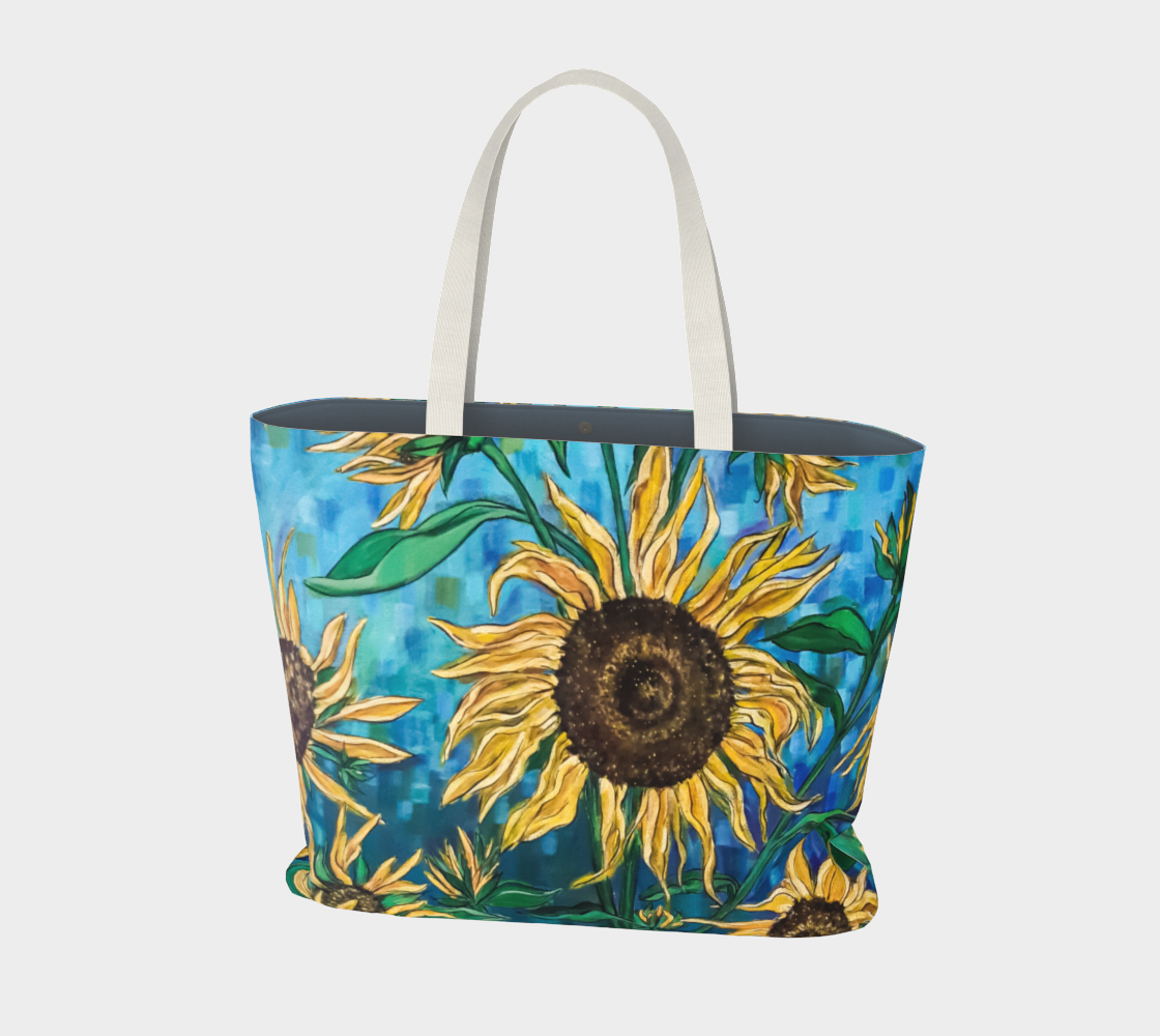 Aperçu de Summer Sunflowers Large Tote Bag