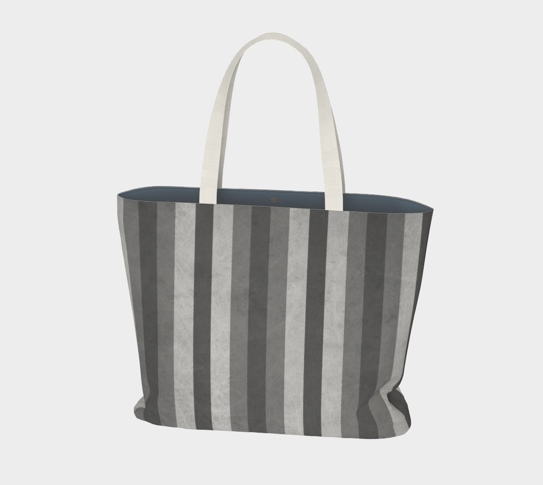 Stripes Collection: Fifty Shades Large Tote Bag aperçu