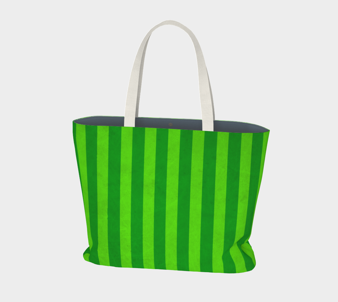 Stripes Collection: Fields Of Green Large Tote Bag aperçu