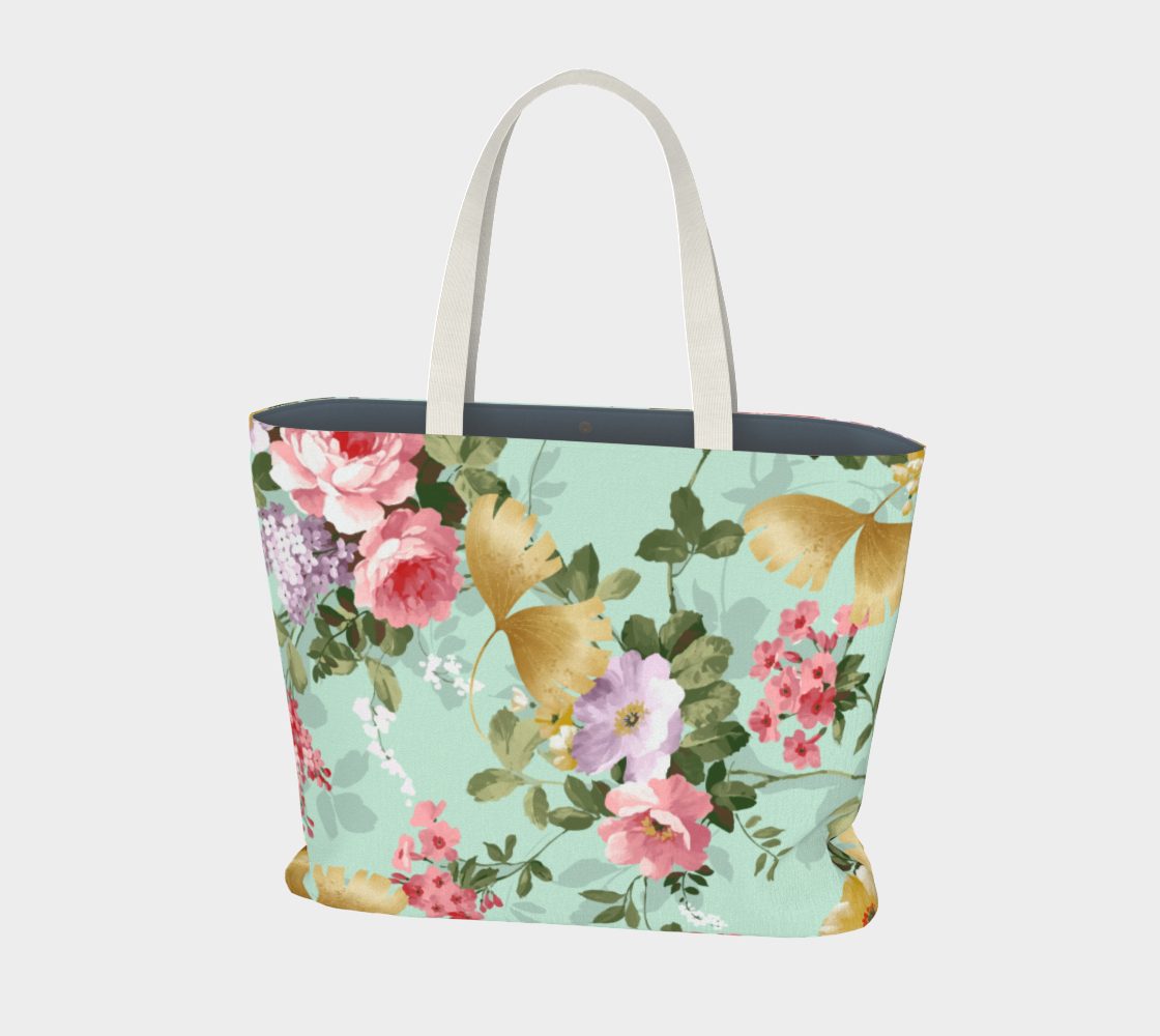 Where Flowers Bloom So Does Hope Large Tote Bag aperçu