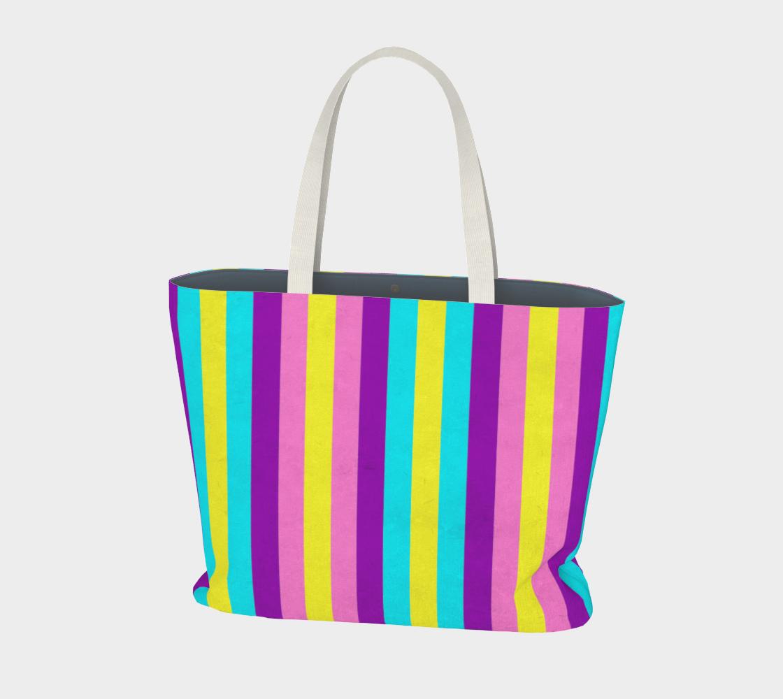 Stripes Collection: Fairy Fantasy Large Tote Bag aperçu