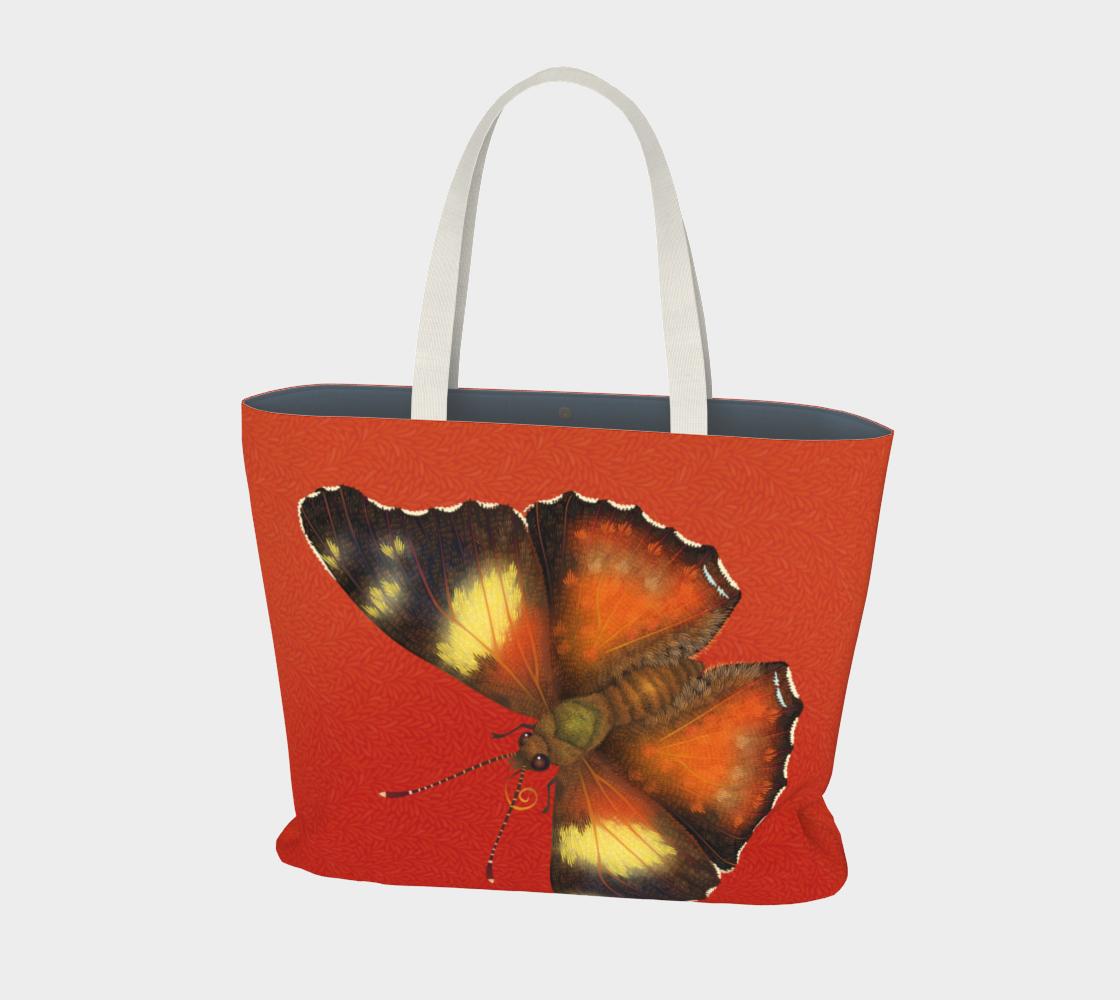 Giant Butterflies on Red Leaves aperçu