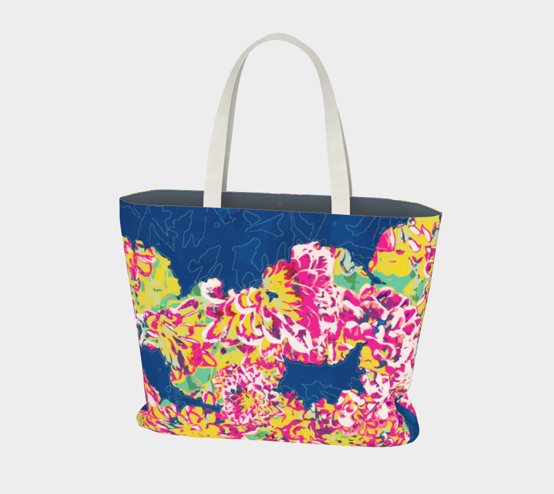 The soul becomes dyed with the color of its thoughts Large Tote Bag aperçu