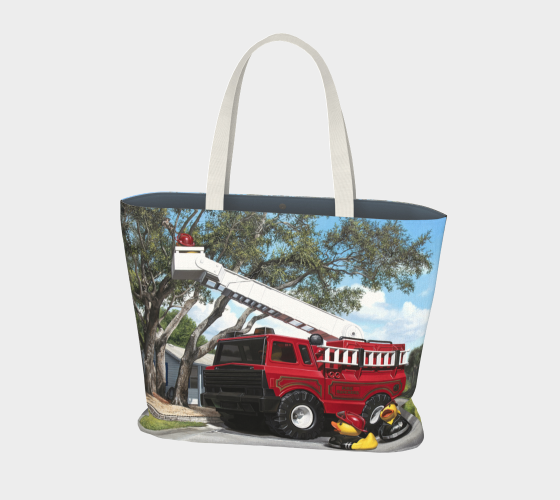 Fire Quackers Large Tote Bag preview