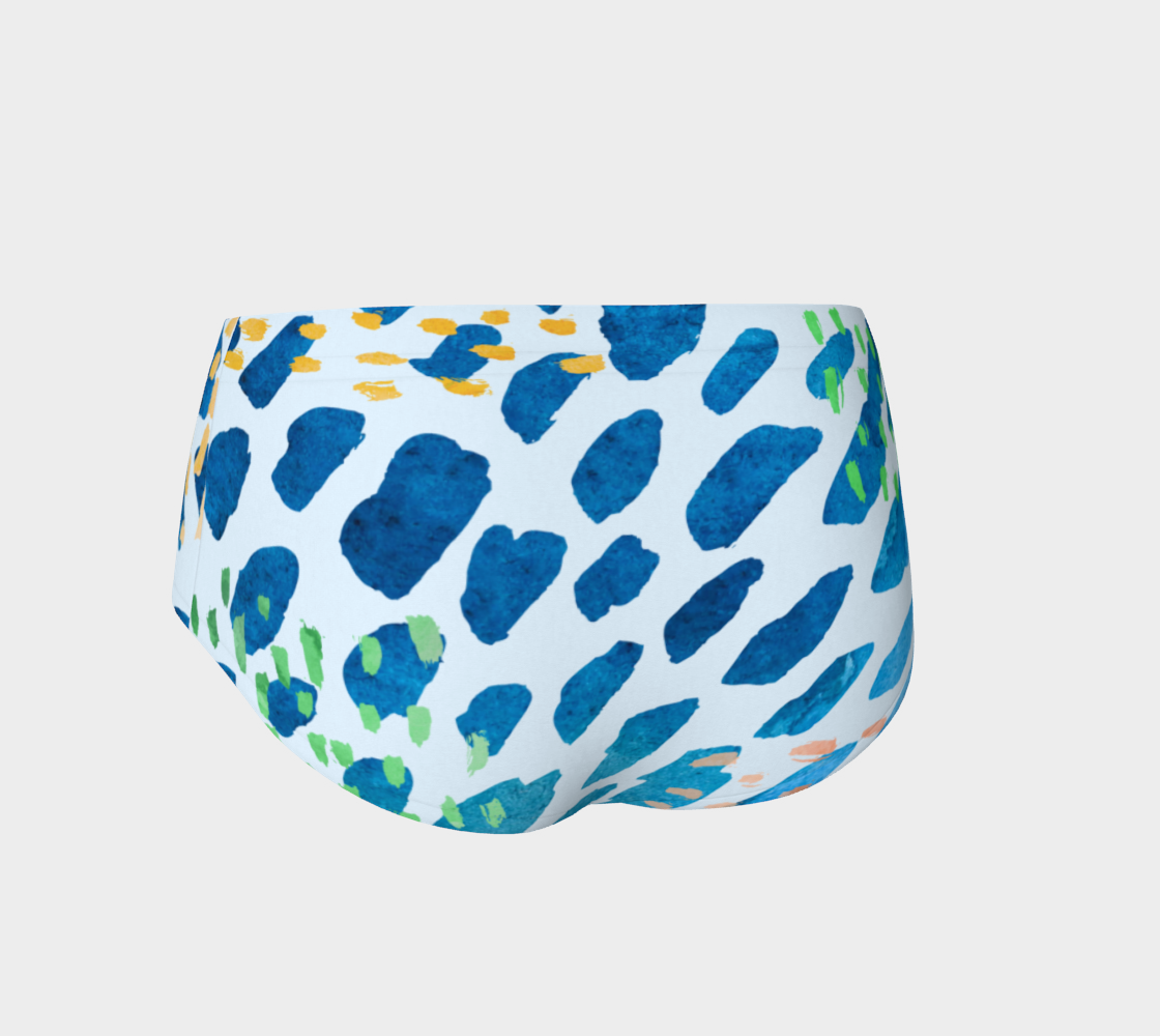 Under The Sea Watercolor Abstract Mini Shorts preview #2