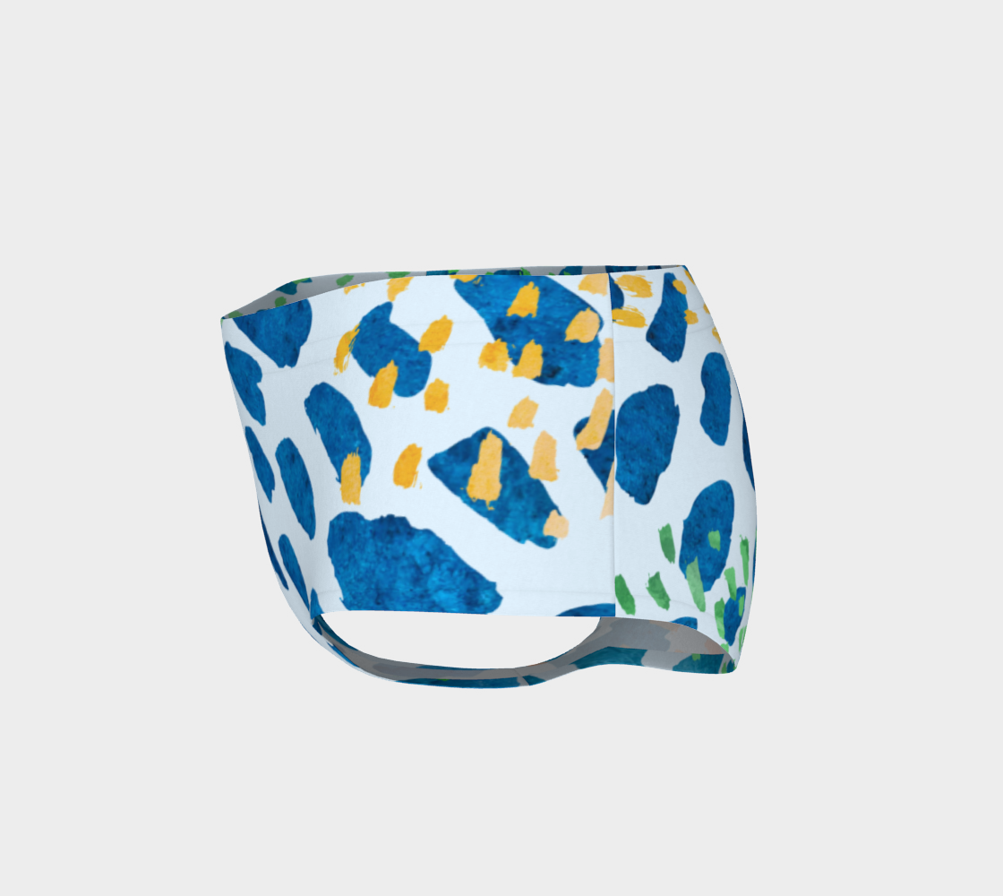 Under The Sea Watercolor Abstract Mini Shorts preview #3