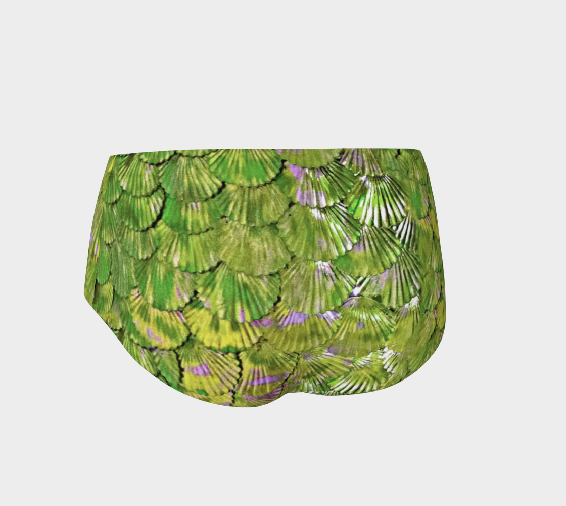 Citrus Green Mermaid Booty Shorts preview #2