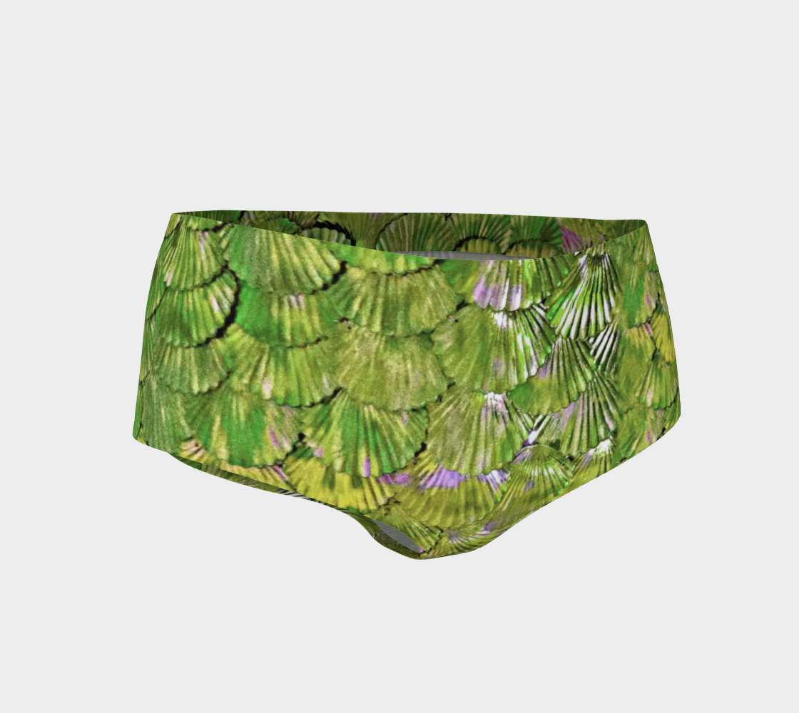 Citrus Green Mermaid Booty Shorts preview