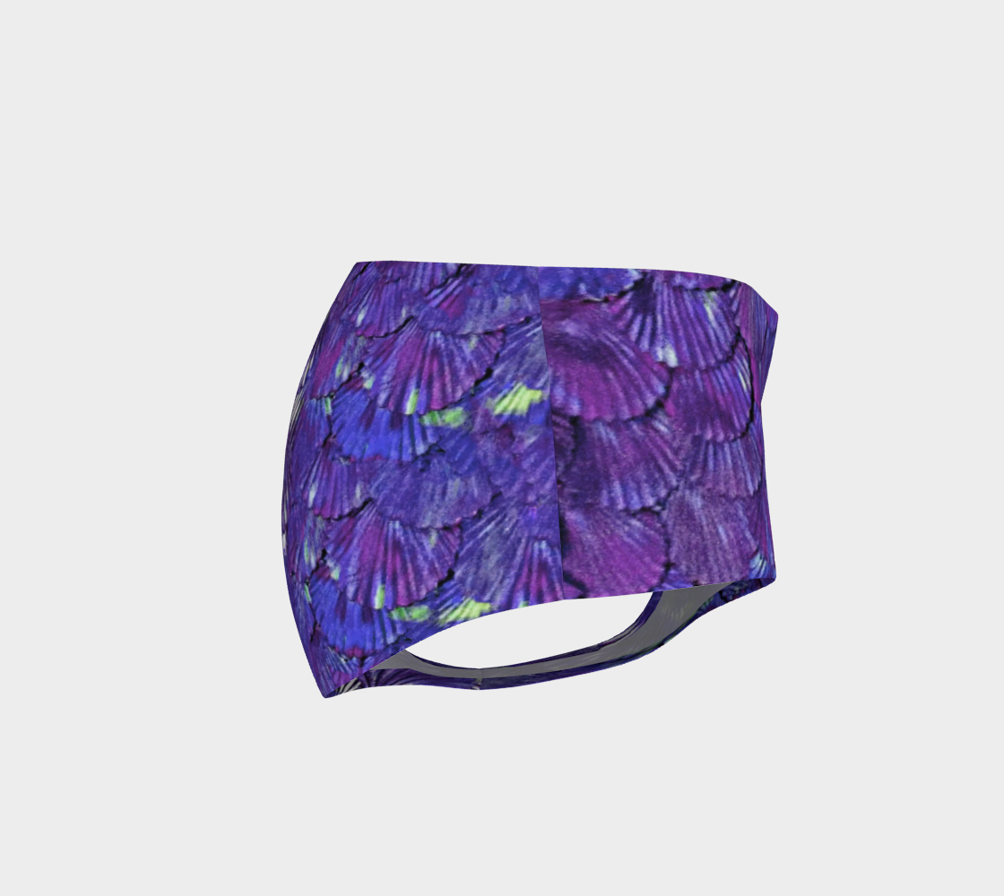 Purple Mermaid Booty Shorts preview #4