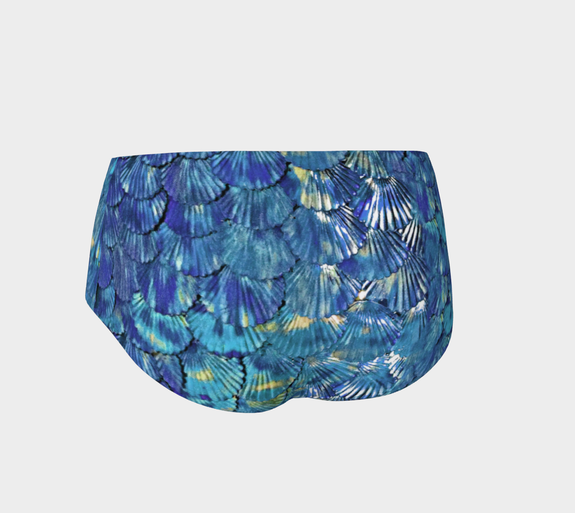 Blue Mermaid Booty Shorts preview #2
