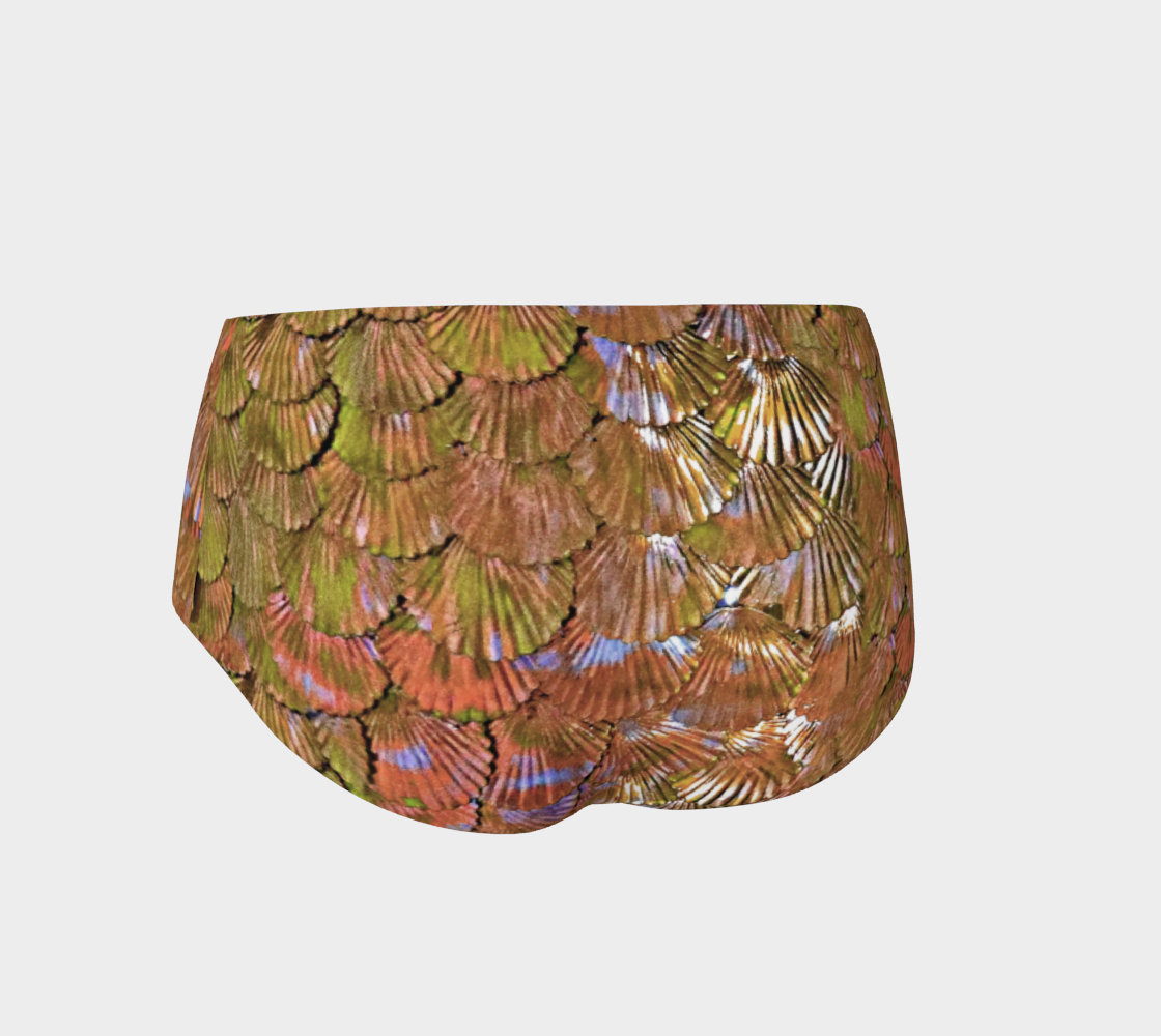 Rose Gold Mermaid Booty Shorts preview #2