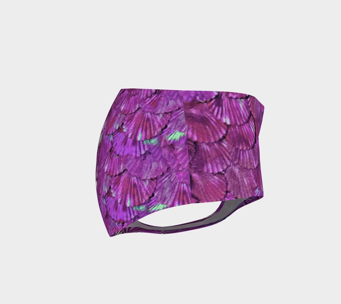 Fuchsia Mermaid Booty Shorts preview #4