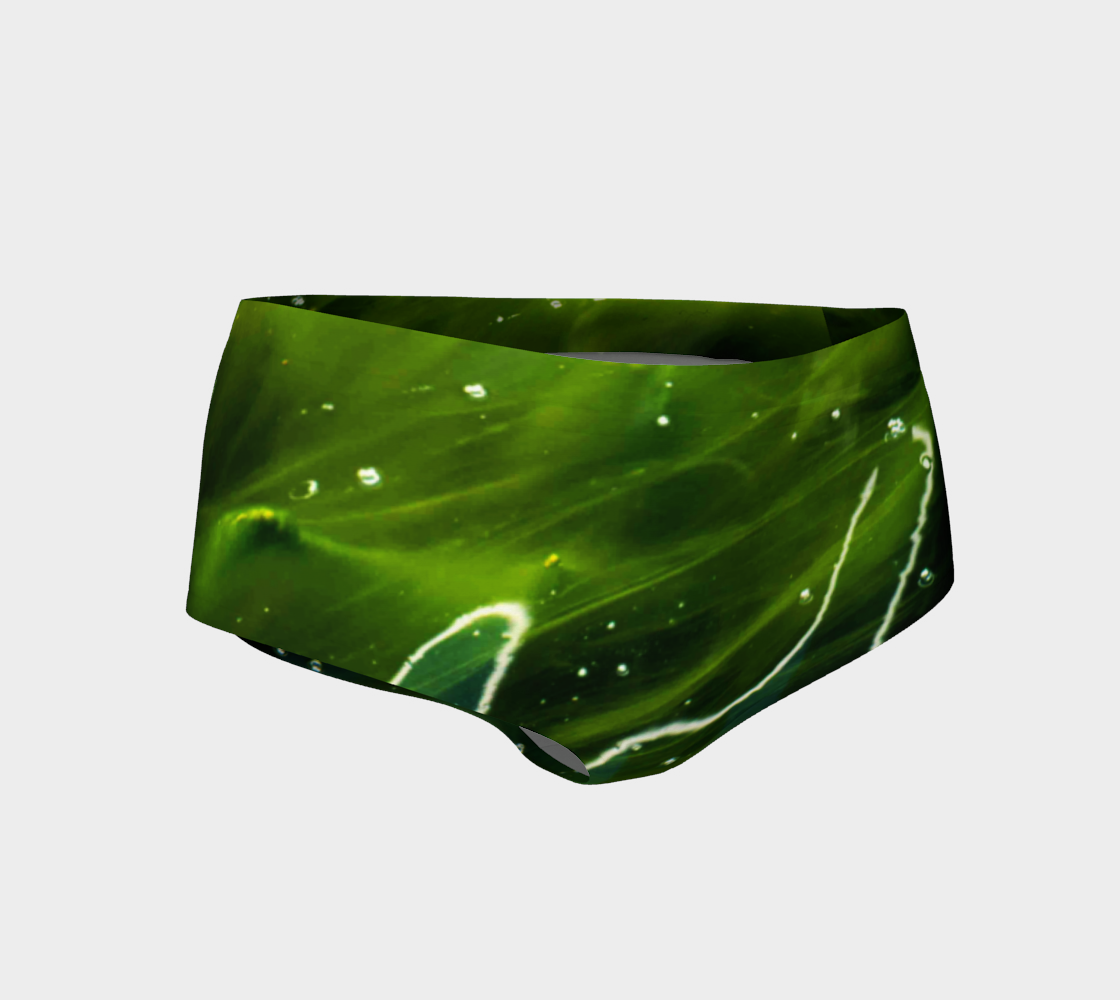 Green Algae and Water Mini Shorts preview