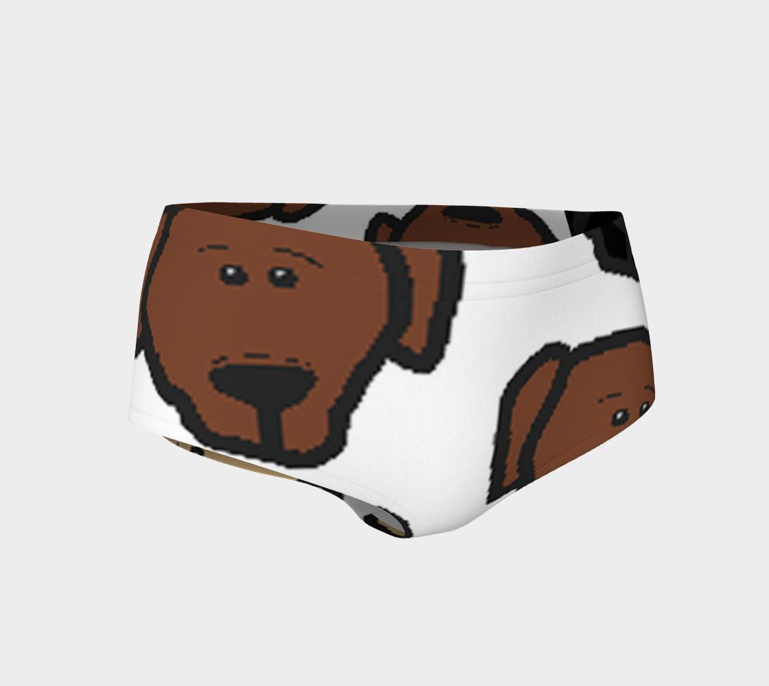 Labrador Retriever all 3 colors cartoon heads mini shorts preview