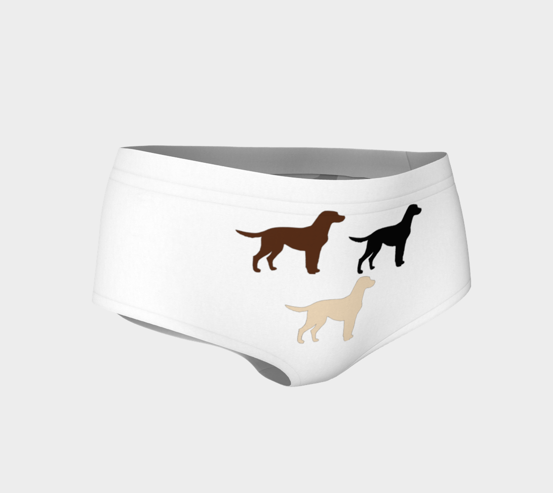 Labrador Retriever all 3 colors silhouettes mini shorts preview