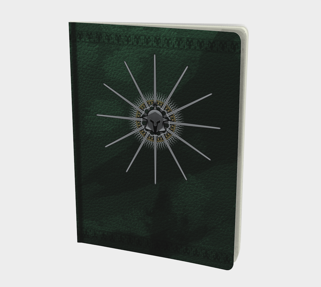 D&D Adventure Journal with Character Sheet, Green Leather-look preview