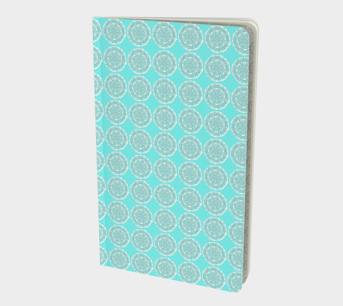 Blue and White Mandala Circles Notebook preview
