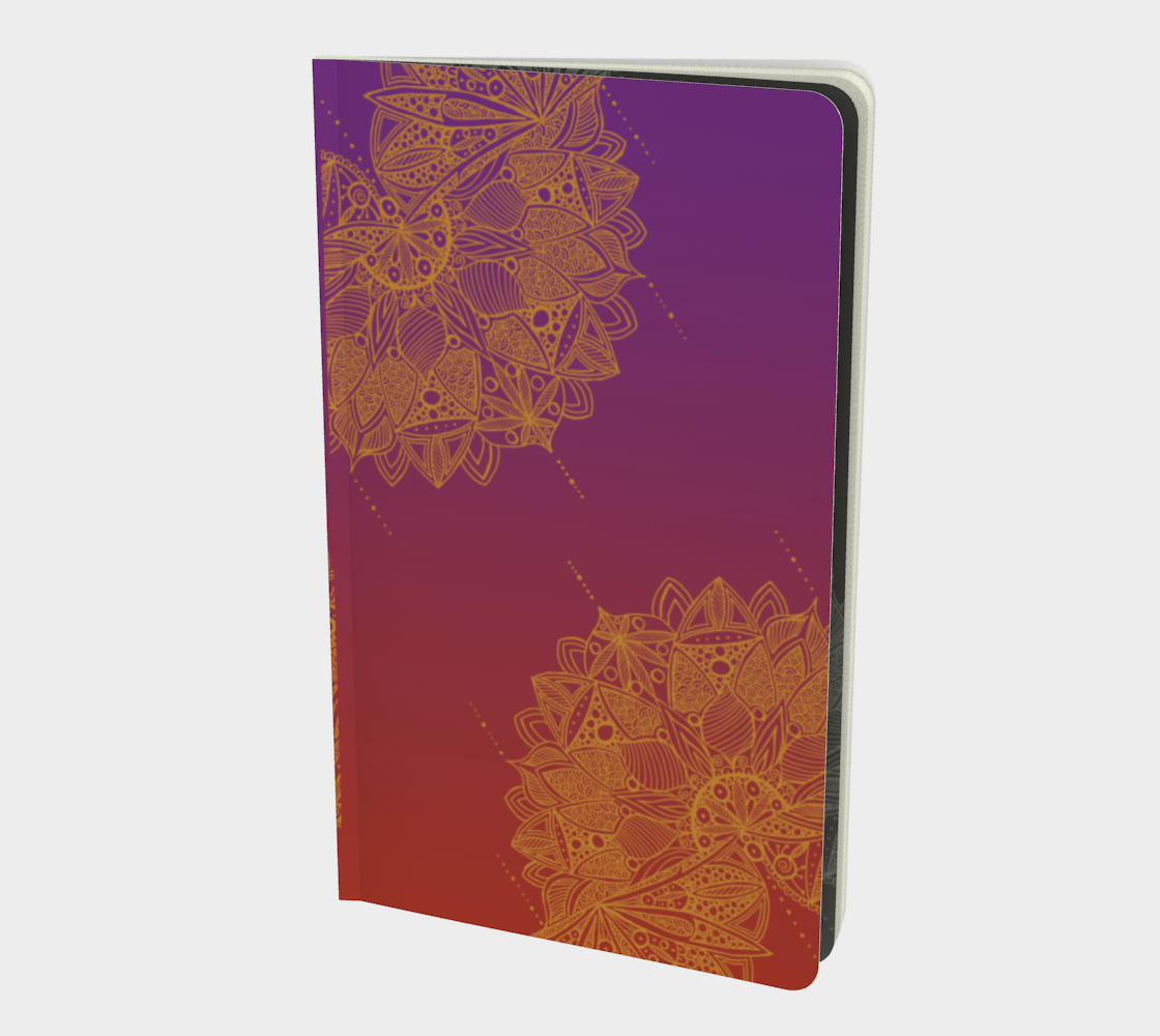Red and Purple Mandala Pattern Notebook preview