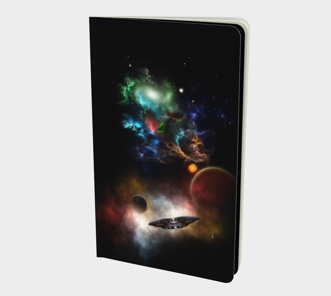 Beyond Space & Time Fractal Art II Spacescape Notebook Small preview