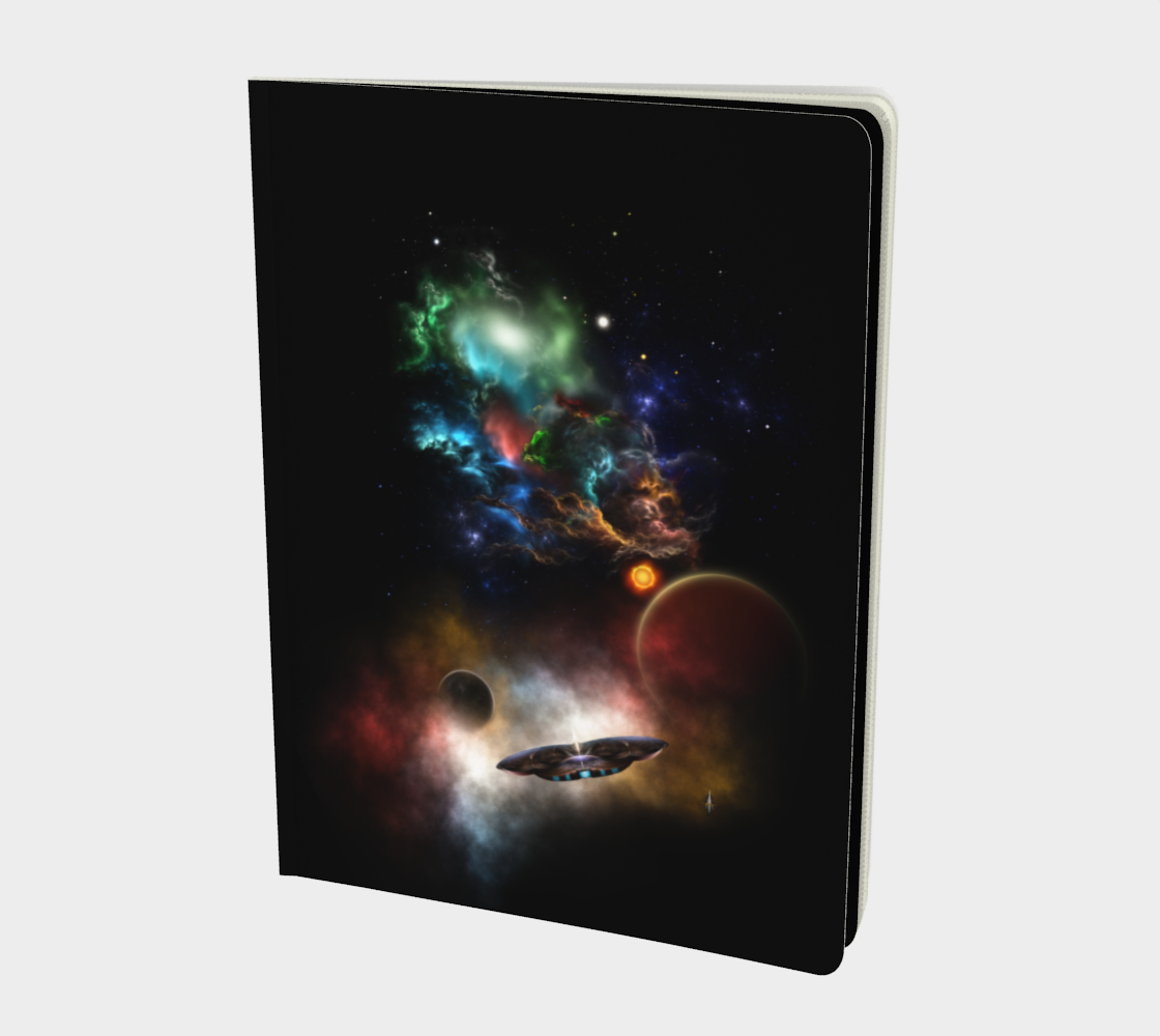 Beyond Space & Time Fractal Art II Spacescape Notebook Large preview