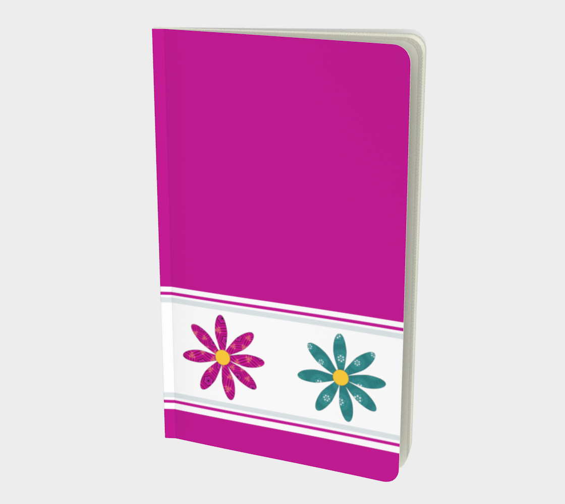 Pink Dalmatian Flowers Notebook preview