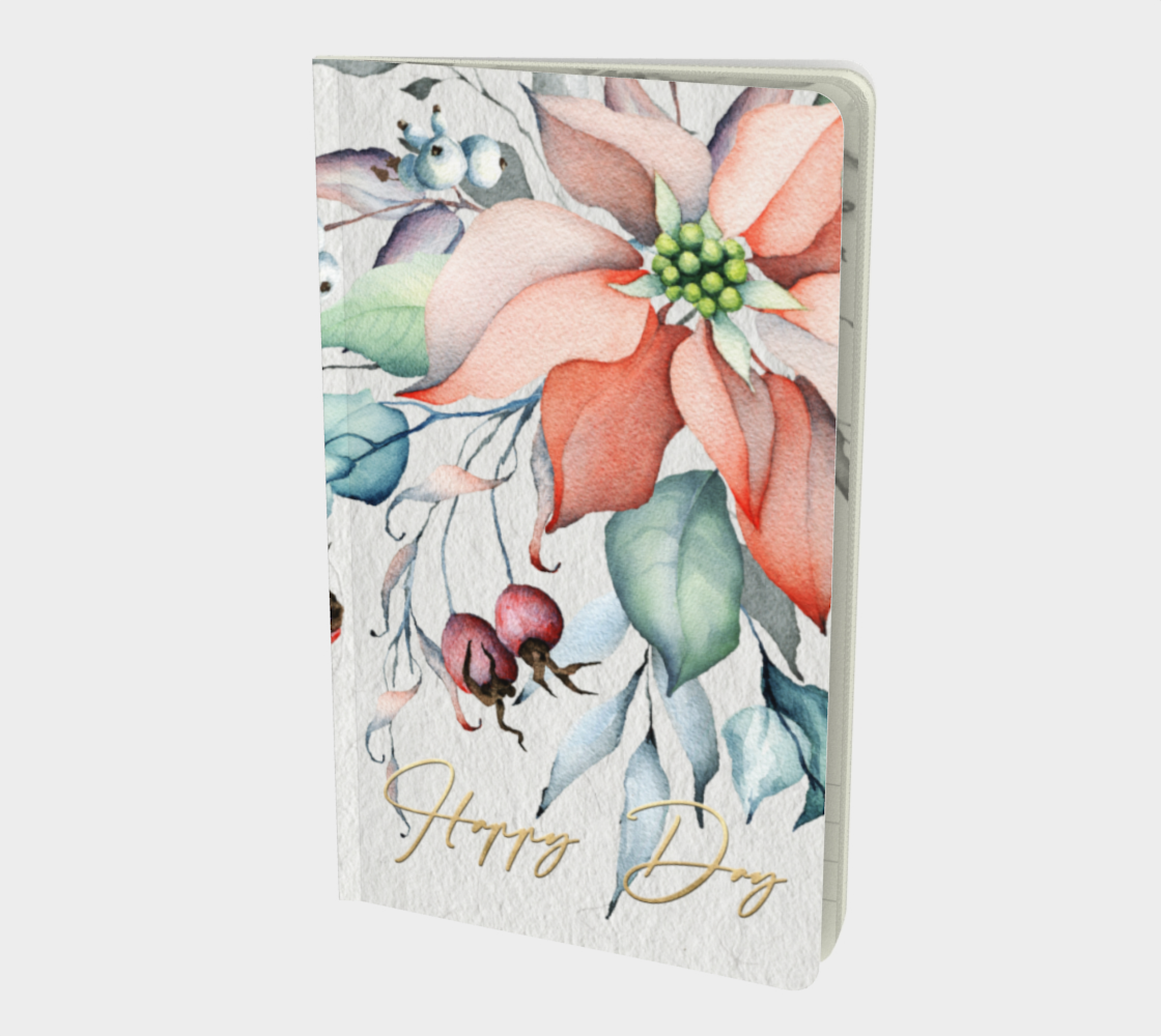 Happy Day – Poinsettia – Notebook preview