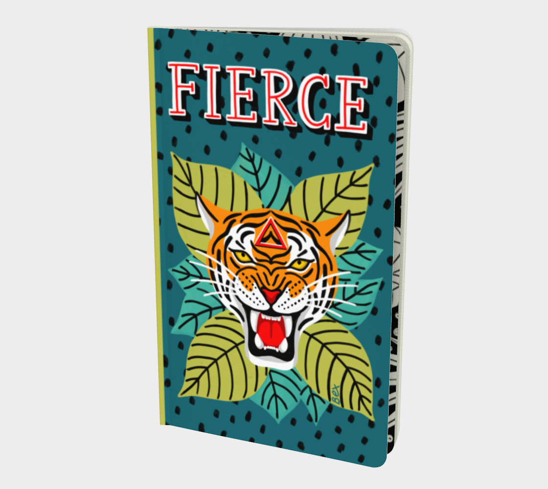 Aperçu de FIERCE tiger. Motivational art small notebook.