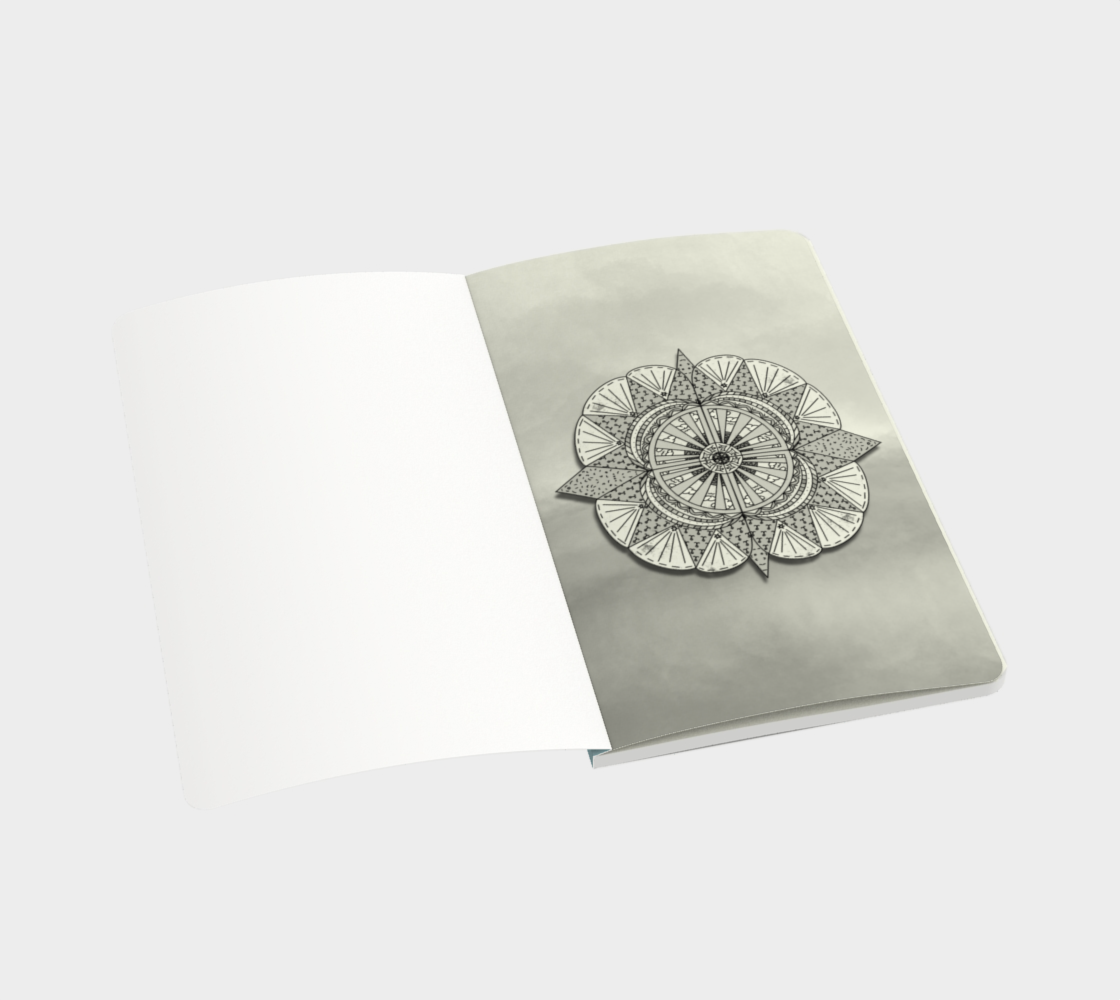 """Sail Away"" Beach Mandala Notebook preview #3"
