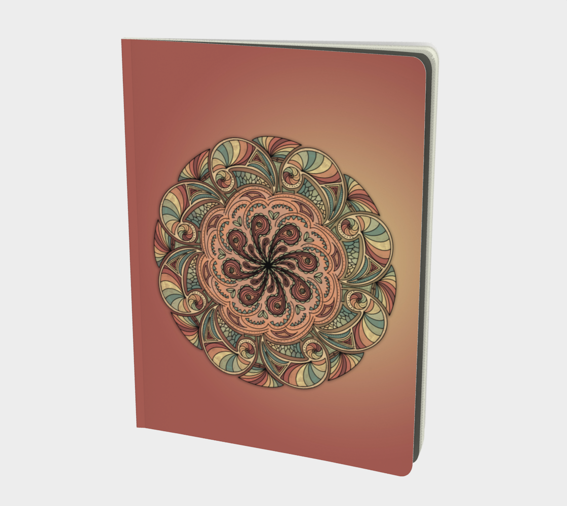 Moroccan Shells Mandala - Notebook Lg preview