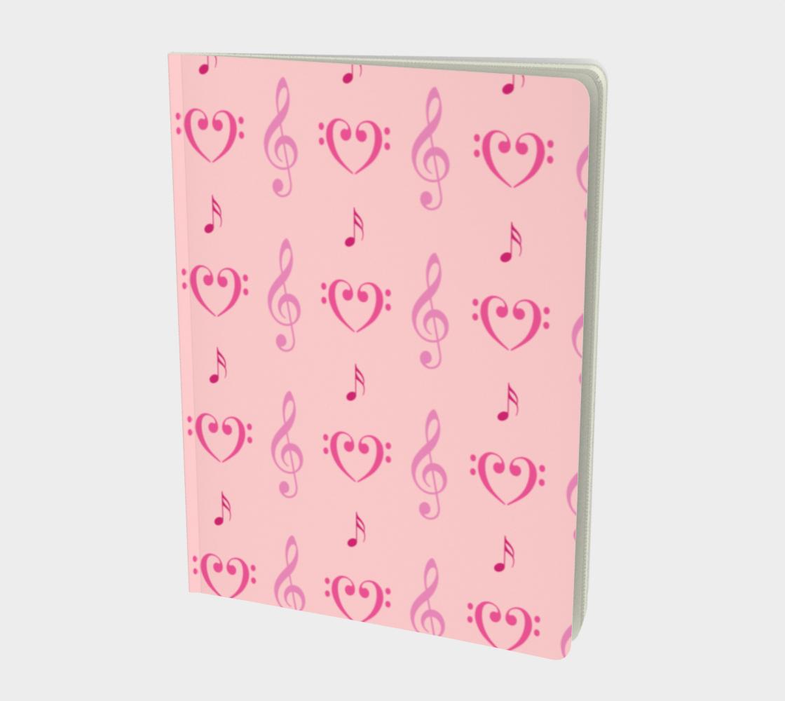 Pink Musical Large Notebook aperçu