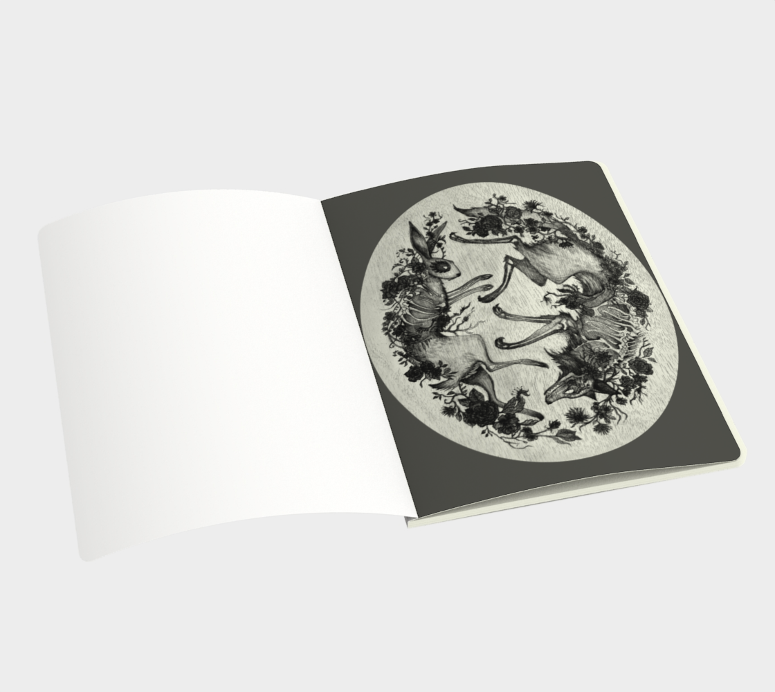 Aperçu de Note Book Rabbit & Wolf Large #3