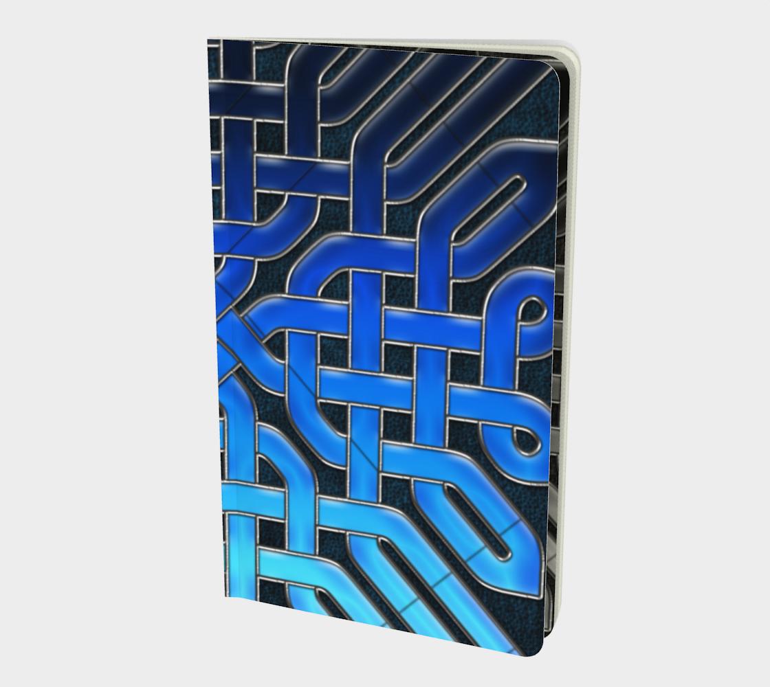 Aperçu de Blue Ice Celtic Knot Notebook