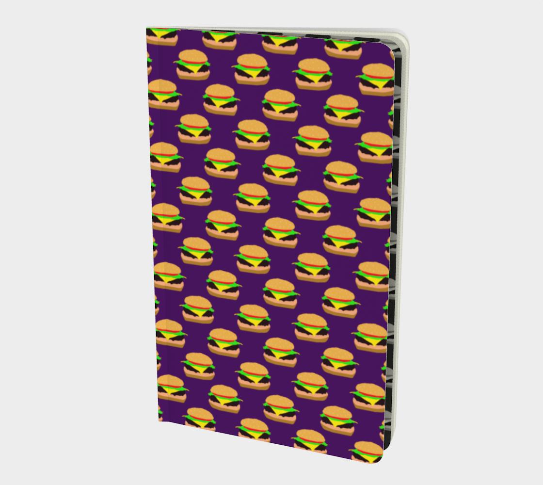 Aperçu de Cheeseburger Pattern Notebook