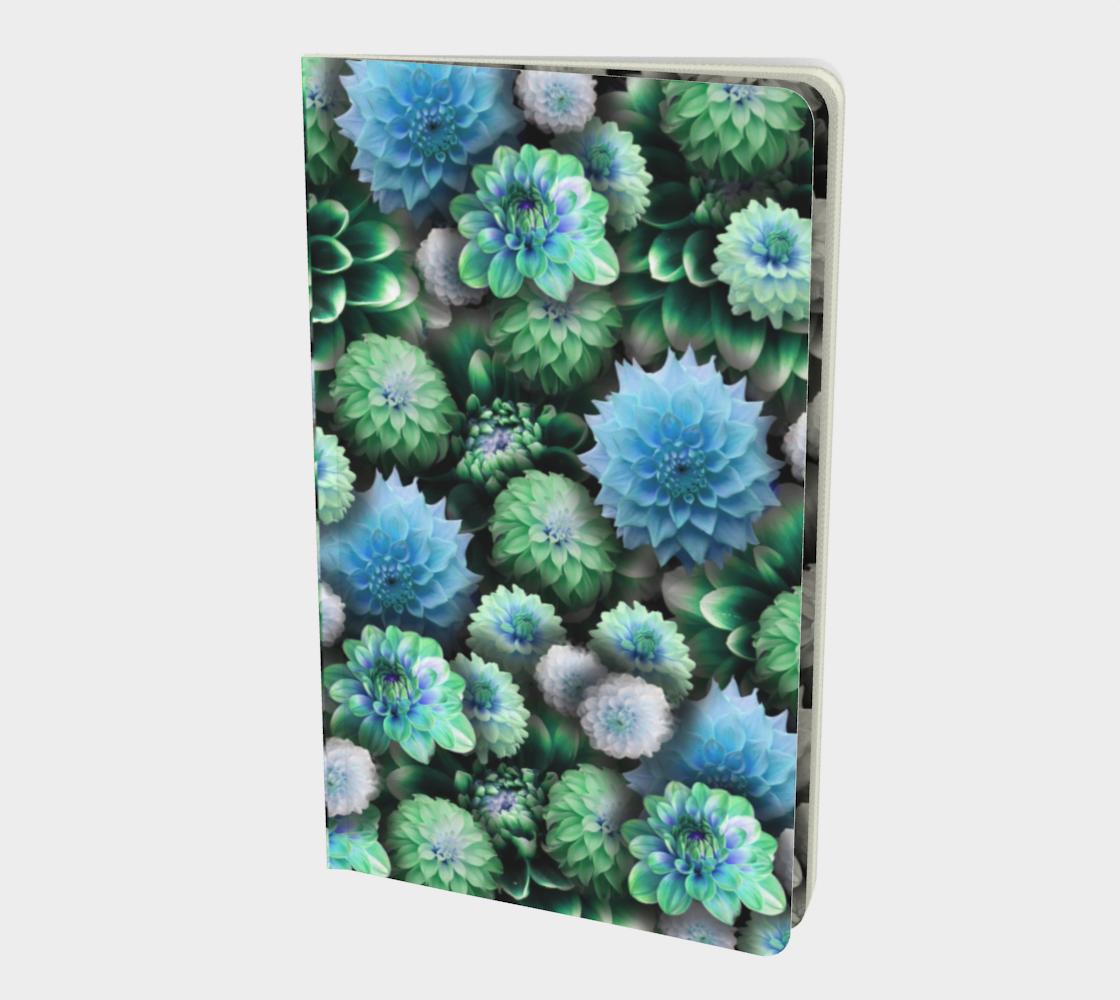 Aperçu de Blue Green Dahlias Notebook