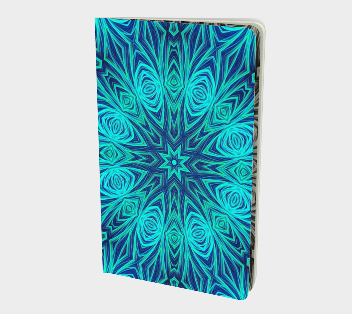 Aperçu de Blue Ice Fractal Kaleidoscope Notebook