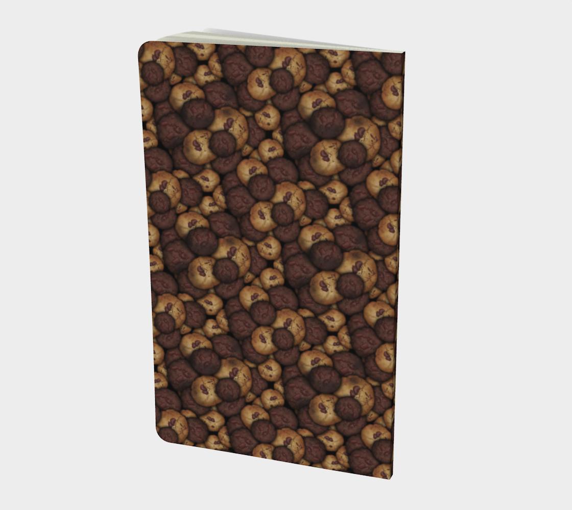 Aperçu de Chocolate Chip Cookies Pattern Notebook #2