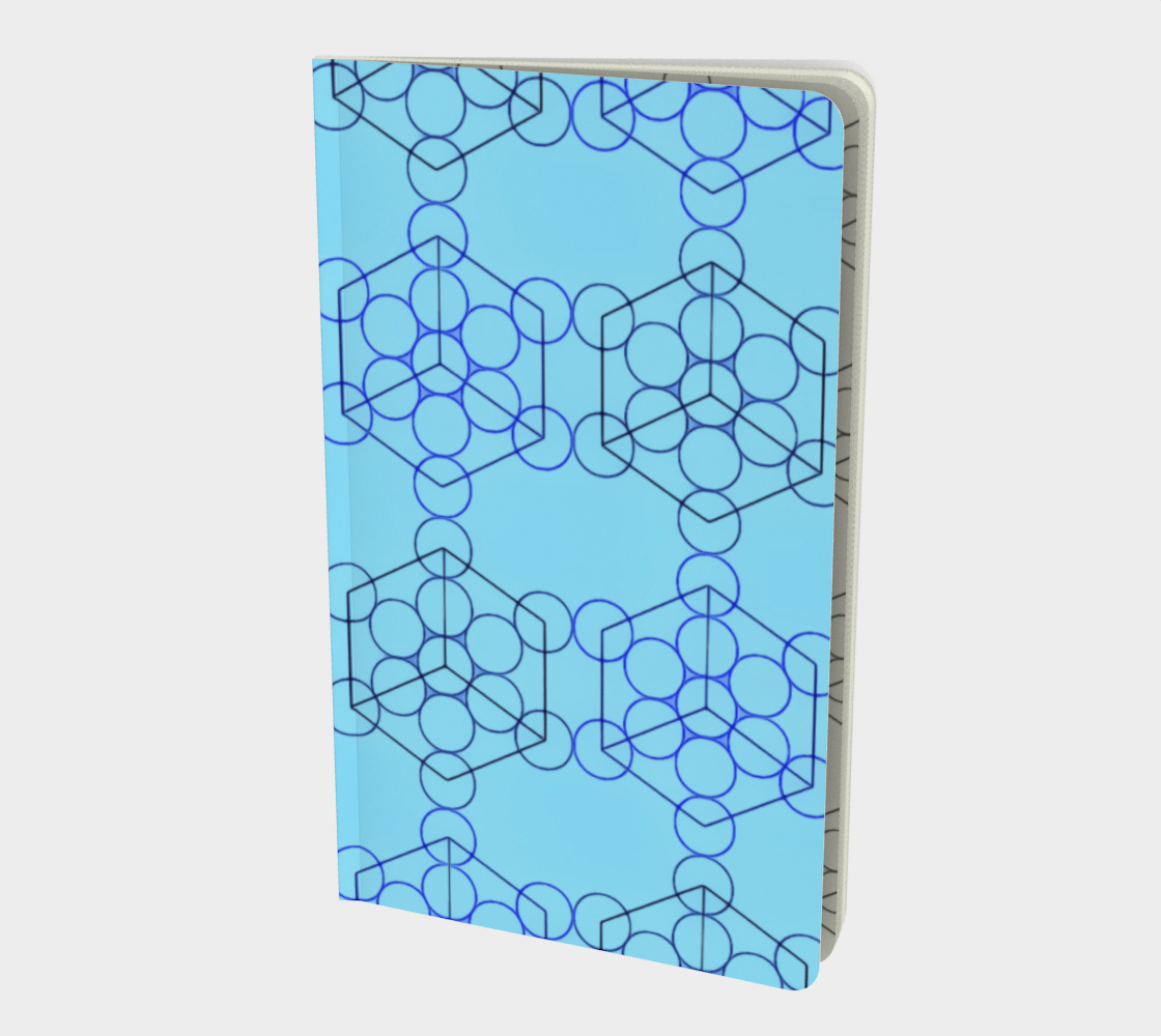 Geometric Tiling Blue Small Notebook preview