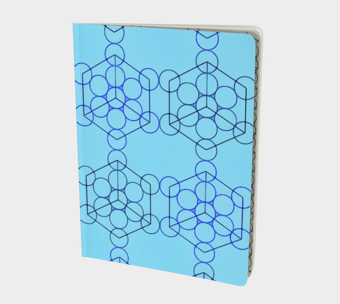 Geometric Tiling Blue Large Notebook preview