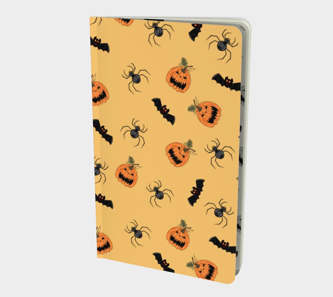Halloween Pumpkin, Spider and Bat Pattern in orange and black preview